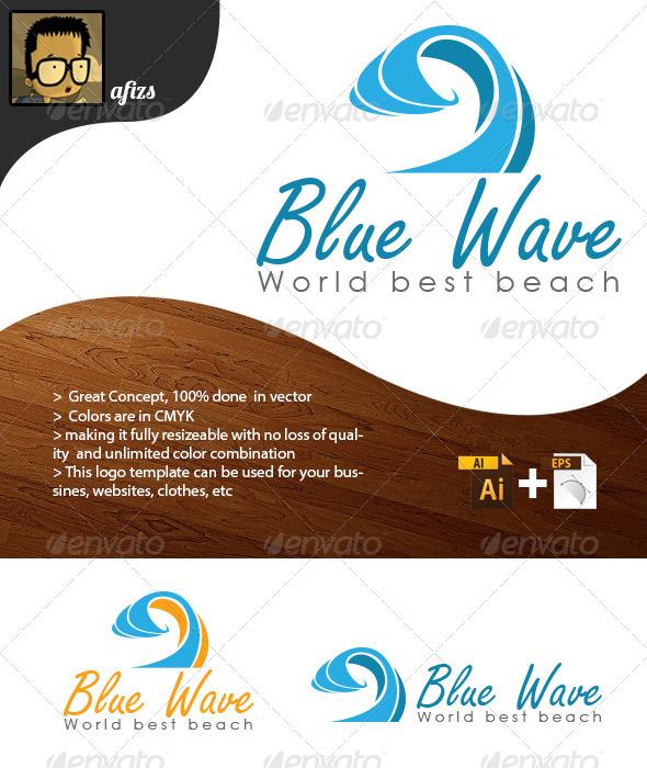 GraphicRiver Blue Wave Logo 3426819