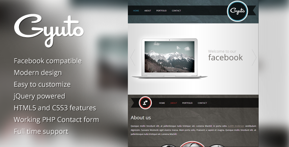 ThemeForest Gyuto facebook template 3427046