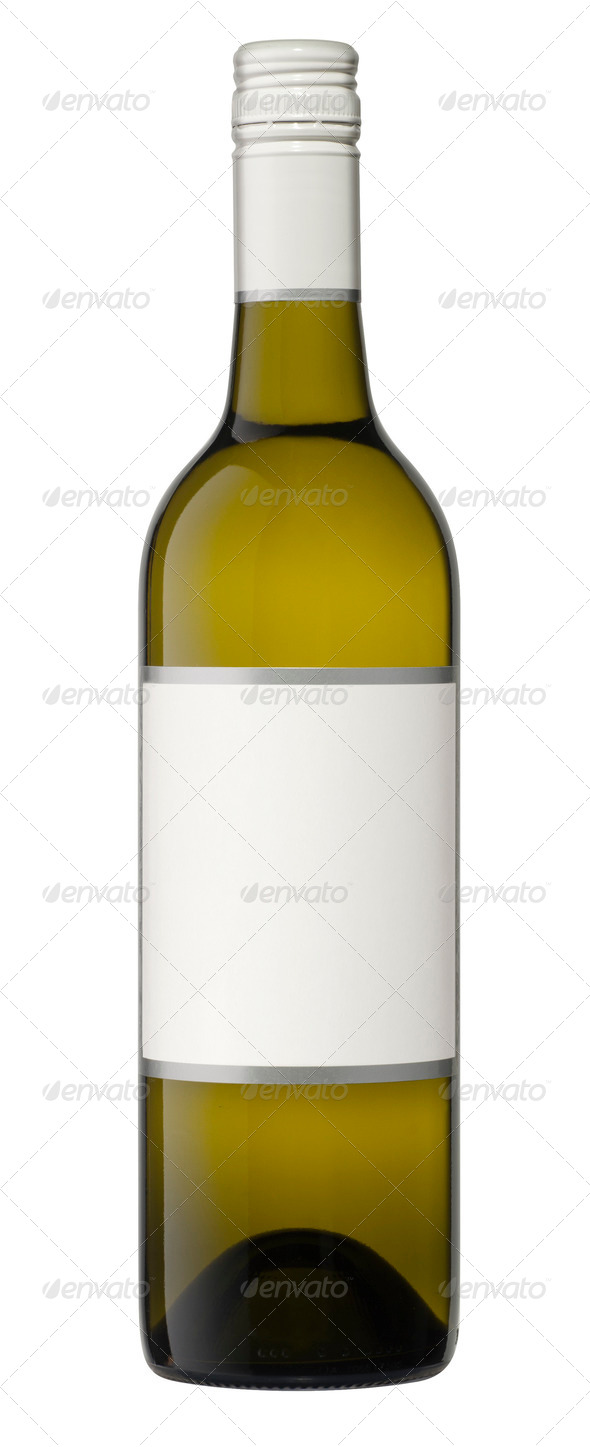 Isolated Blank Wine Bottle Stock Photo by hddigital ...