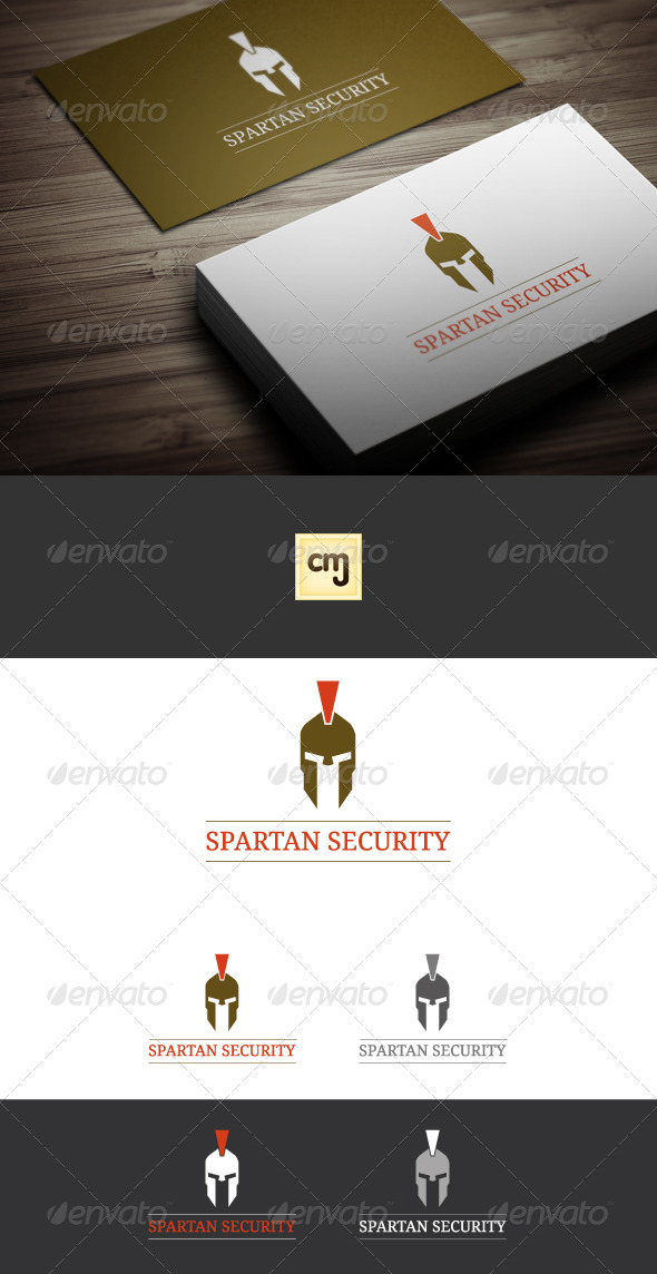 GraphicRiver Spartan Security Logo Template 3427294