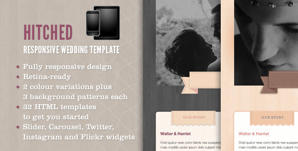 Hitched - Responsive Wedding Template - Wedding Site Templates