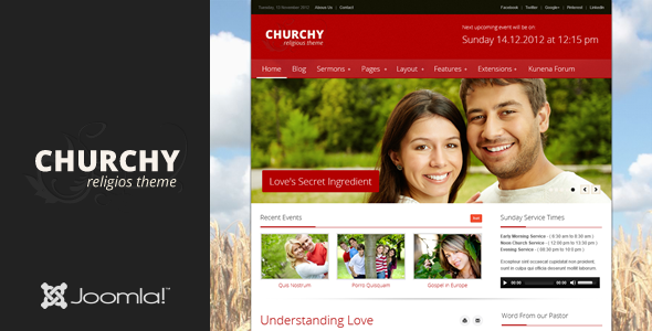 ThemeForest Churchy Joomla Church Template 3399878