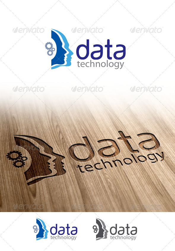 GraphicRiver Data Technology Logo 3396675