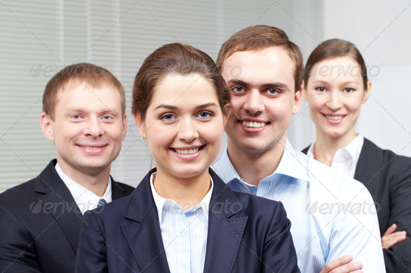 Corporative businesspeople - Stock Photo - Images