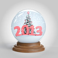 snowglobe with 2013 new year message - PhotoDune Item for Sale