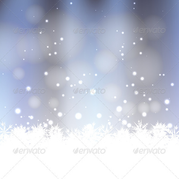 GraphicRiver Winter Snow Background 3431400