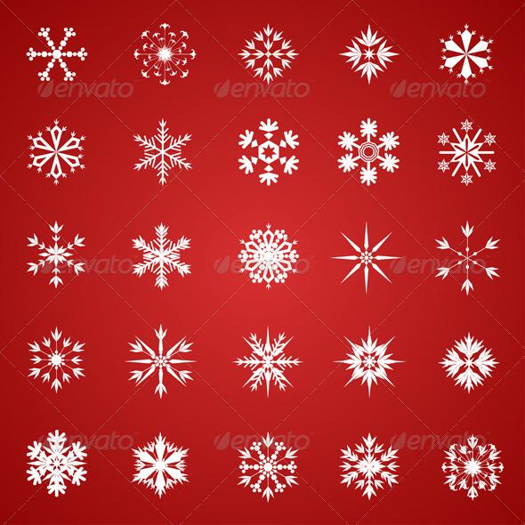 GraphicRiver Snowflake Collection 3431423