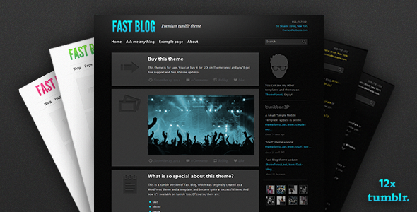 ThemeForest Fast Blog tumblr theme 3432163
