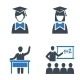 School and Education Icons Set 2 - Blue Series - GraphicRiver Item for Sale