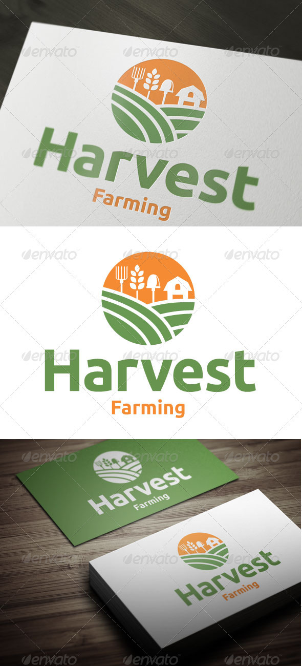 Harvest Farming - Nature Logo Templates