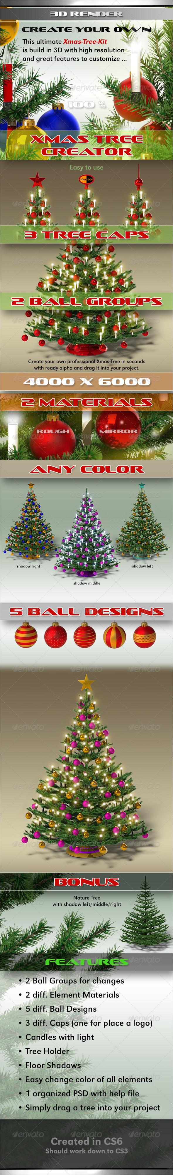 GraphicRiver Xmas Tree Creator 3434019