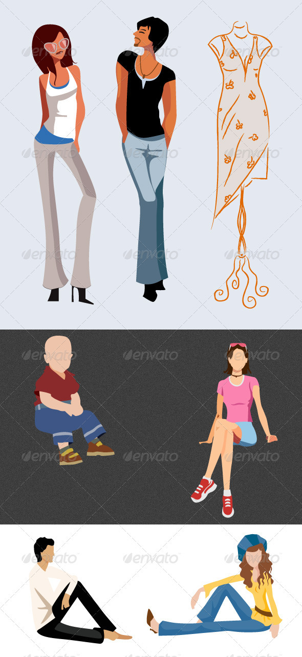 GraphicRiver Fashion Model Vector 3434037