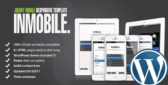 InMobile - jQuery Mobile | 3 Themes + WordPress
