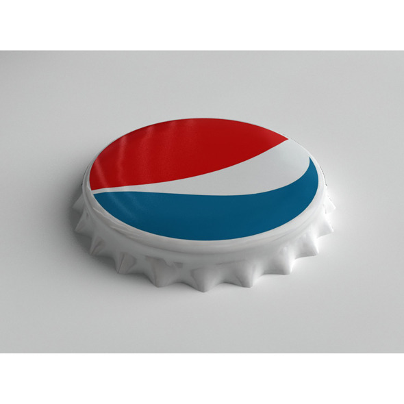 Pepsi Bottle Tin Cap - 3DOcean Item for Sale