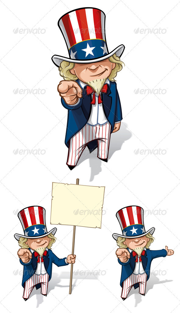 "Uncle Sam ""I Want You"" Set - People Characters"