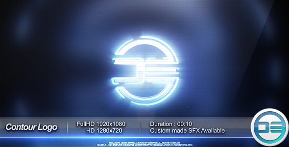 After Effects Project - VideoHive Contour Logo Social Media Network 3290890