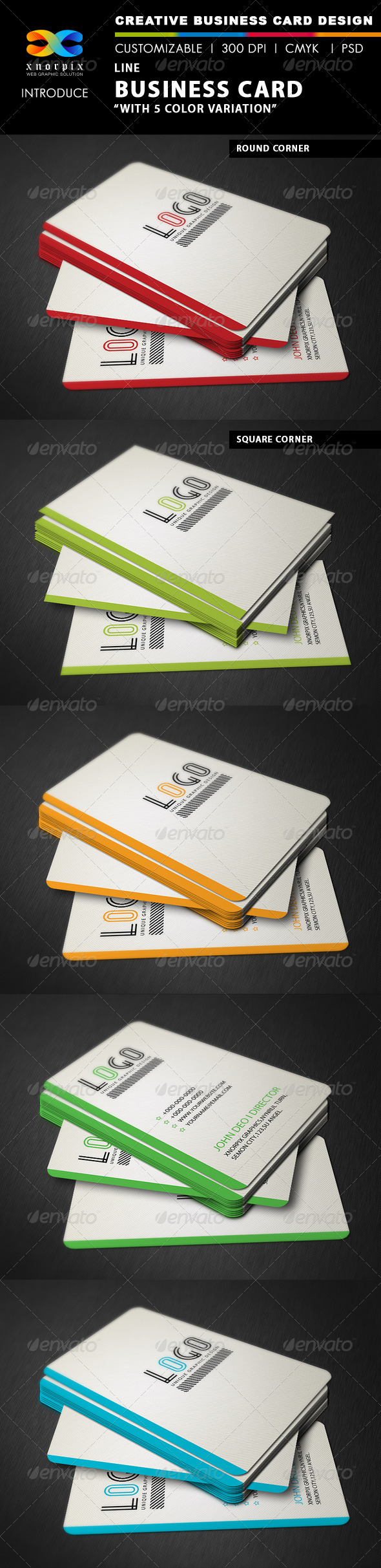 GraphicRiver Line Business Card 3435259