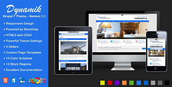 Dynamik - Responsive Drupal 7 Theme - Drupal CMS Themes
