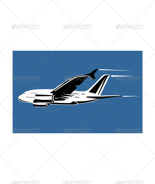 GraphicRiver Commercial Jet Plane Airline Ret 3435462