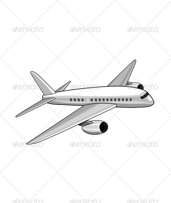 GraphicRiver Commercial Jet Plane Airline Ret 3435469