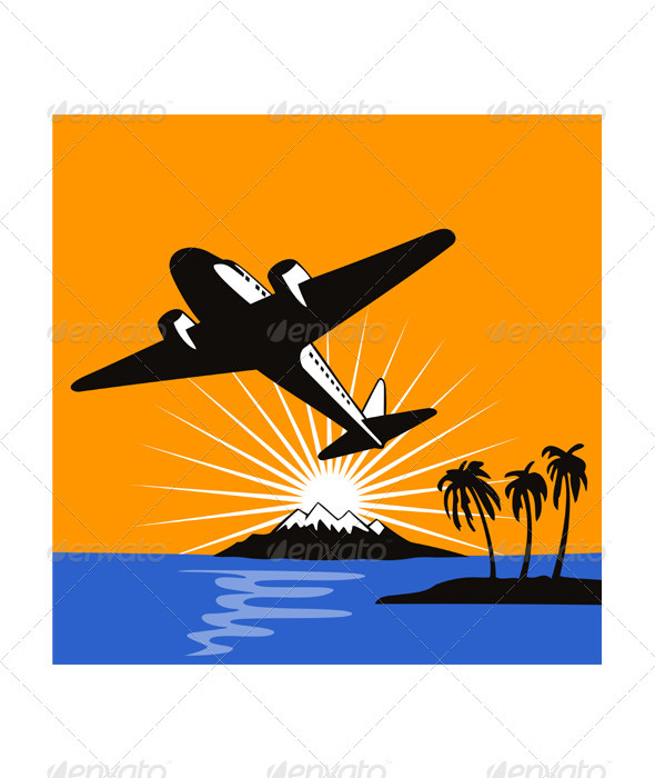 GraphicRiver Airplane Retro 3435472