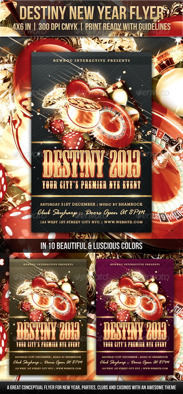 Destiny New Year Flyer - Clubs & Parties Events