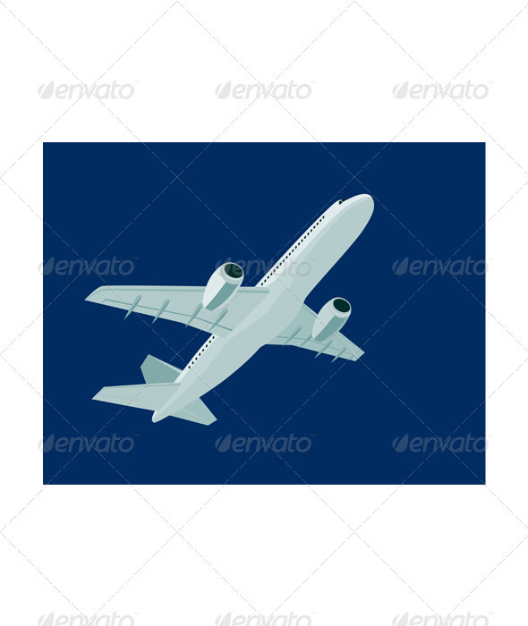 GraphicRiver Commercial Jet Plane Airline Ret 3435504