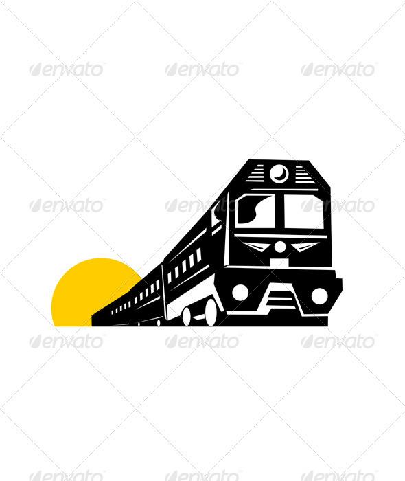 GraphicRiver Diesel Train Retro 3435553