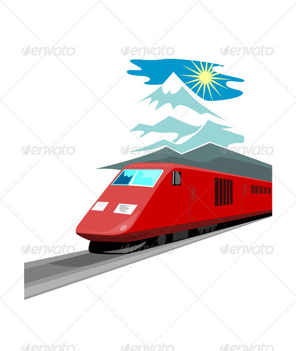 GraphicRiver Diesel Train Retro 3435554
