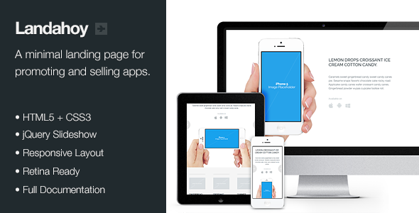 Landahoy - Responsive + Retina Landing Page - Landing Pages Marketing