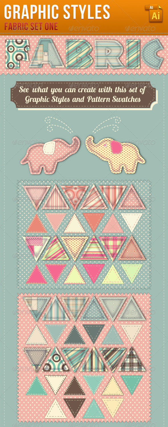 GraphicRiver Fabric Graphic Styles and Patterns 3436211