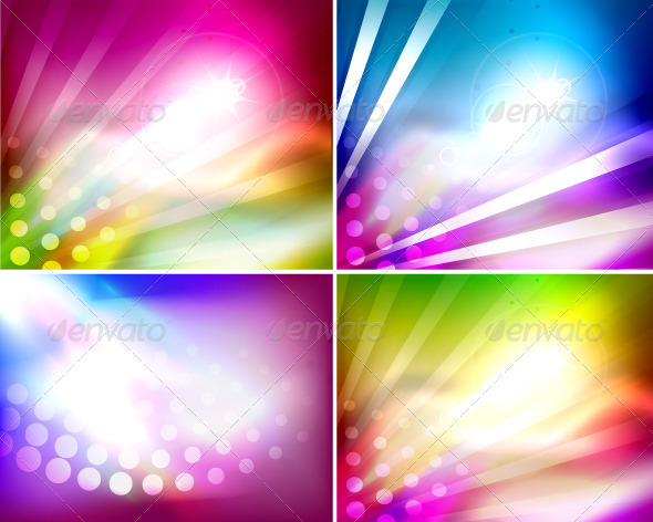 GraphicRiver Abstract Vector Shiny Backgrounds 3436332