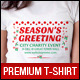 Christmas Charity Event Uniform T-Shirt Template - GraphicRiver Item for Sale