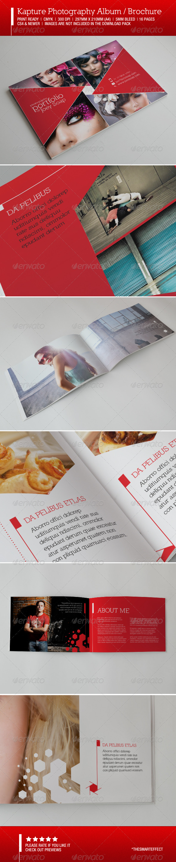 Kapture Photography Album / Brochure - Photo Albums Print Templates
