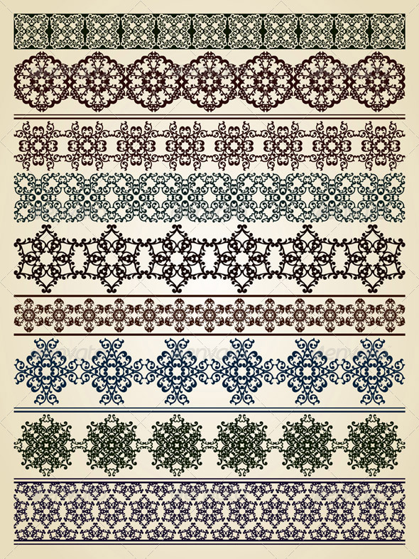GraphicRiver Vector Seamless Borders 3436866