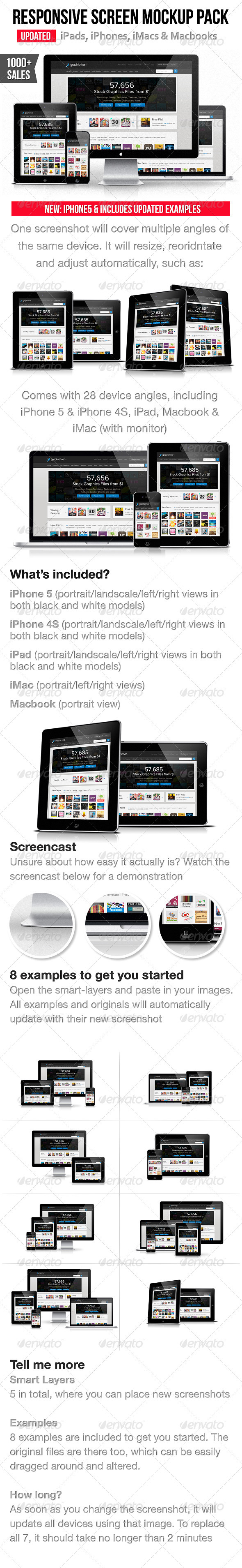 Responsive Screen Mockup Pack - Multiple Displays
