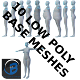 10 Low Poly Base Meshes - 3DOcean Item for Sale