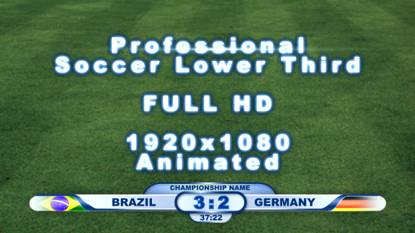 VideoHive Professional Soccer Lower Third Pack 3414698