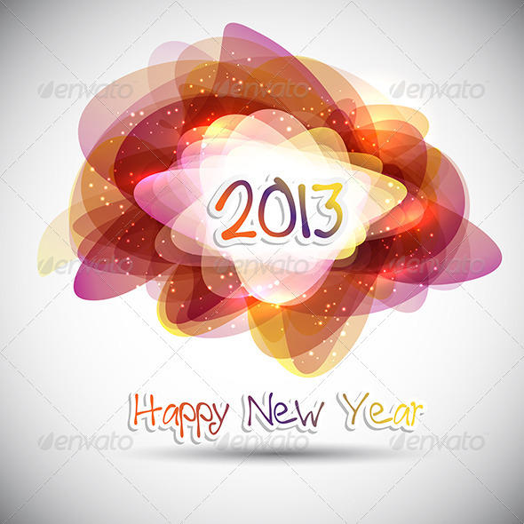 GraphicRiver Happy New Year Background 3438981
