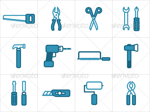 GraphicRiver Tools Icons 3439013