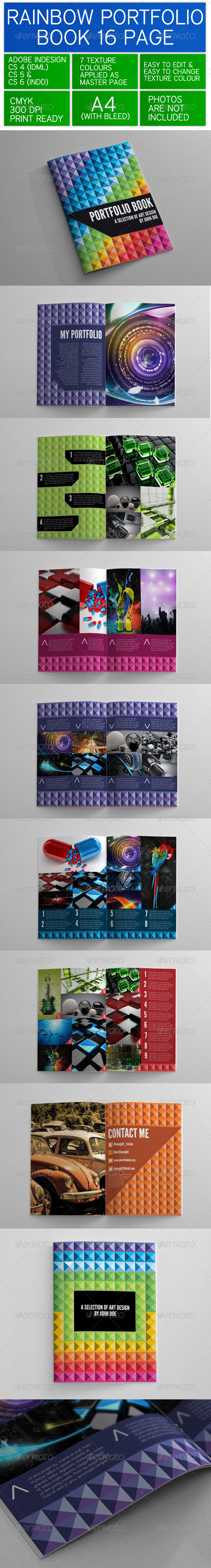 GraphicRiver Rainbow Portfolio Book 3419890