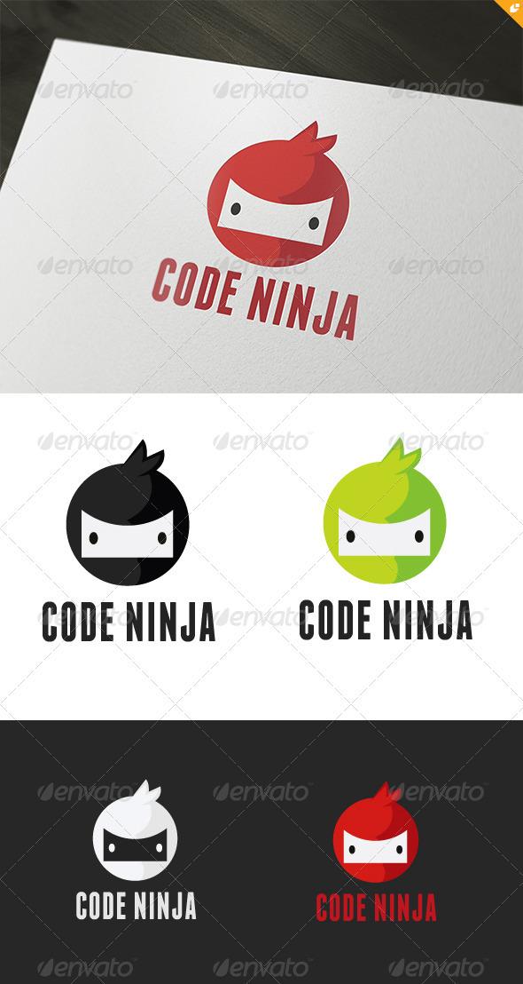 GraphicRiver Code Ninja Logo 3439982