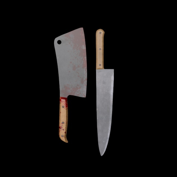 3DOcean Butcher 2 Pack Knives 3440029