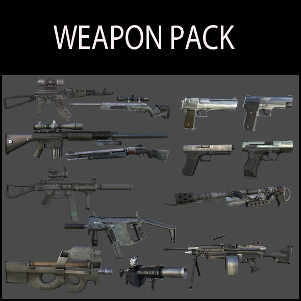 3DOcean Ultimate Weapon Pack 3441502