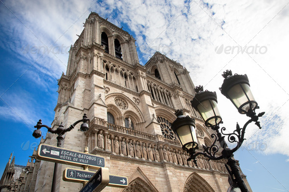Notre Dame Cathedral, Paris, France. - Stock Photo - Images
