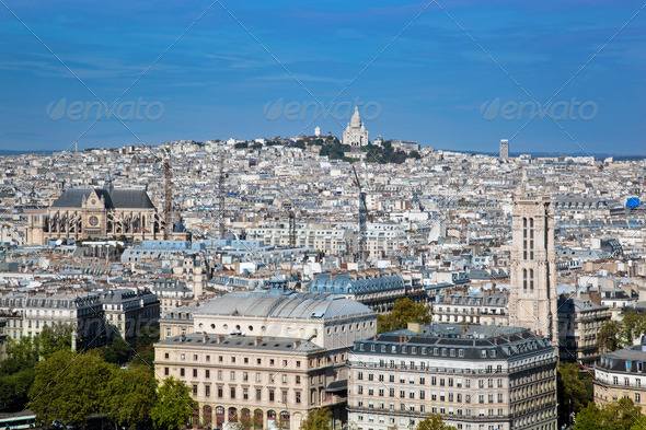 Paris, France. Sacre-Coeur Basilica - Stock Photo - Images