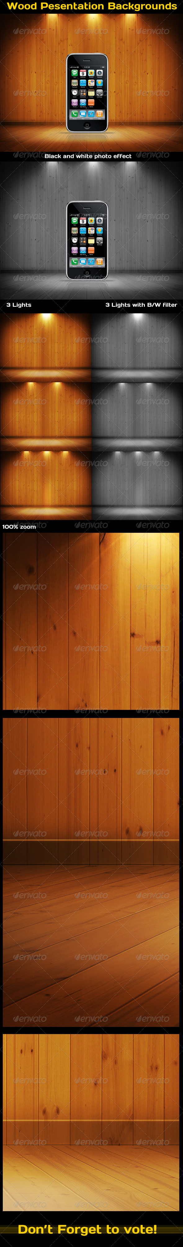 GraphicRiver Wood Product Pesentation Backgrounds 3442263