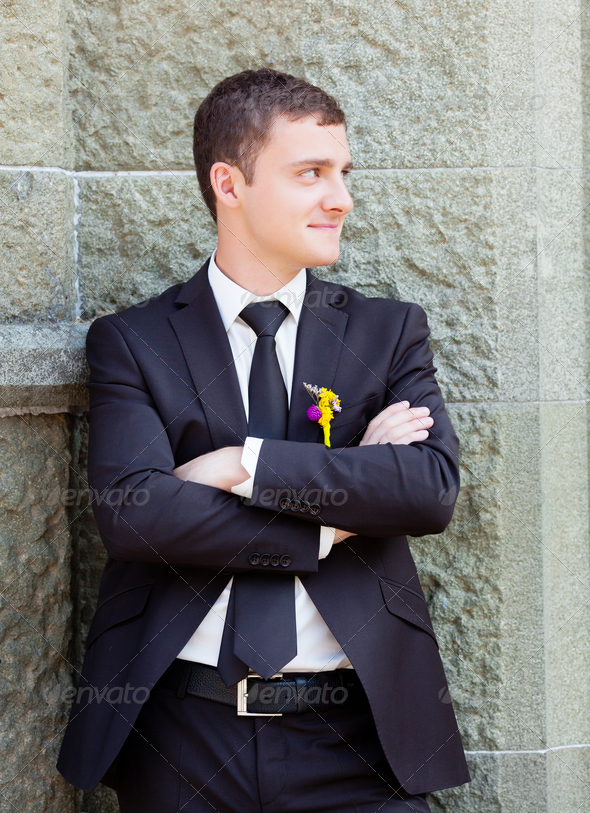 Groom portrait - Stock Photo - Images