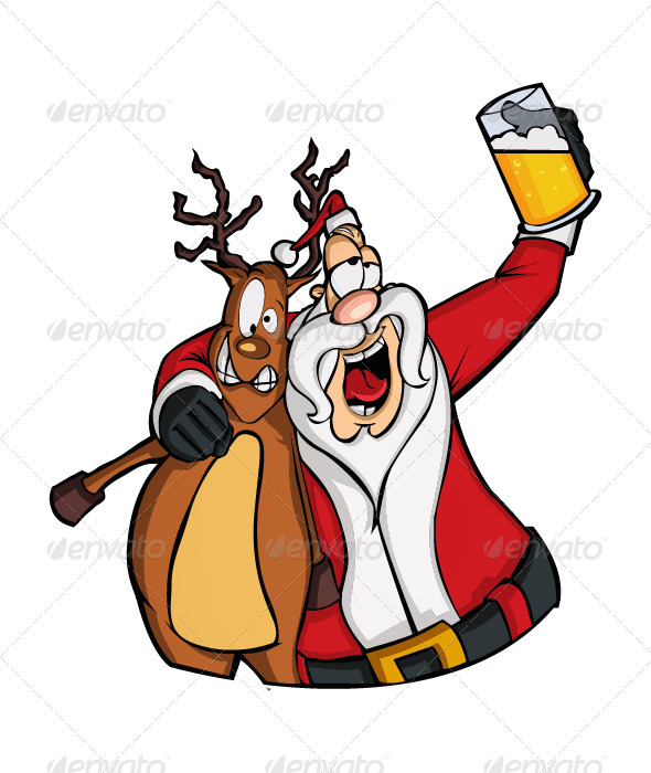GraphicRiver Drunk Santa Claus 3442915