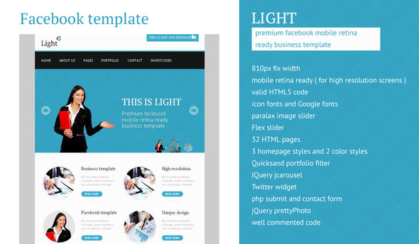 Light - Facebook Business High Resolution Template - Corporate Site Templates
